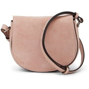 NWT French Connection Silvia Suede Saddle Bag